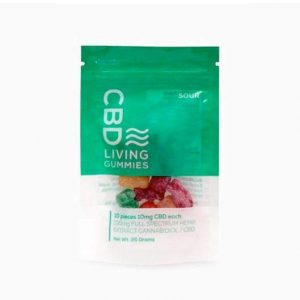CBD Living Sour CBD Gummy Bears 100mg - Shop CBD Living | BareCBDShop.com
