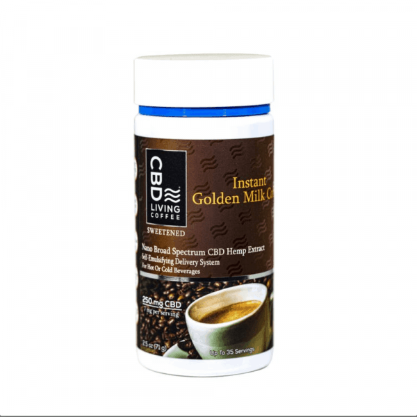 CBD Living Instant Golden Milk Coffee - Shop CBD Living | BareCBDShop.com