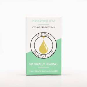 CBD Skin Co Peppermint Leaf Body Bar 50mg - Shop CBD Skincare Co. | BareCBDShop.com