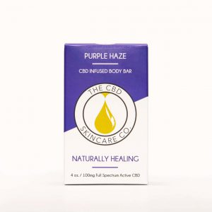 CBD Skin Co Purple Haze Body Bar 100mg - Shop CBD Skincare Co. | BareCBDShop.com