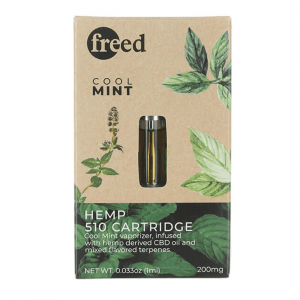 Freed CBD Vape Cartridge 200mg - Cool Mint - Shop Freed | BareCBDShop.com