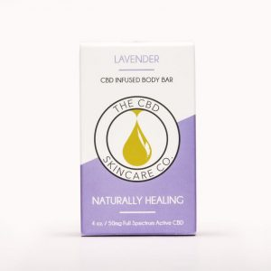 CBD Skin Co Lavendar Body Bar 50mg - Shop CBD Skincare Co. | BareCBDShop.com